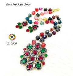 Cl Code Customised Semi Precious Victorian Fashion Jewellery Necklace With Earrings