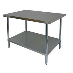 Stainless Steel Work Table Under Shelf