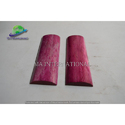Dyed Stabilized Pink And Red Rose Bone Radius Scale Knife Handle