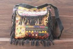 Women's Leather Embroidery Cross Body Bag
