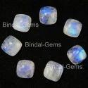 Bindal Gems Blue Flashy Rainbow Cushion Moonstone, Size: 5x5 To 20x20 Mm