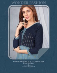 Aarvi Fashion Twinkle Vol-1 Rayon Kurti Catalog Collection at Textile Mall Exporter Wholesaler Surat