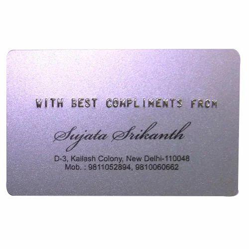 Metallic Rectangular Embossed Card