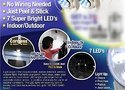 LED Light Angel Activated Cordless Light Base Rotates 360 PIR Motion Sensor Night Lights Lamps
