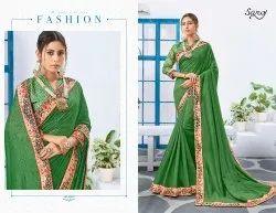 Designer Fancy Green Colour Party Wear Saree