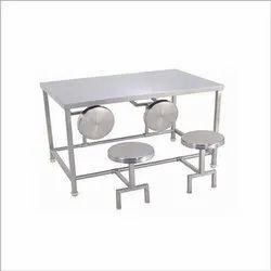 SS Four Seater Dining Table