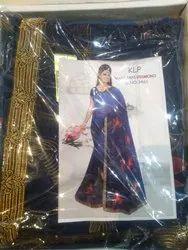 Fancy Handwork Blue Saree
