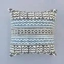 Indian Black Color Hand Made Cotton Block Print Home Decor Decorative Boho Cushion Cover