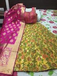 Stitched Broked/Banarashi Brocade Lehangas, Age: 18 TO 40