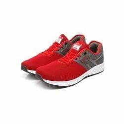 Mens Dark Grey Red Walking Shoes
