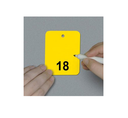 Numbered 1-25 Write-On Tags