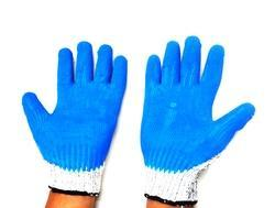 HPPE Dyneema Yarn Knitted With Blue PU Coating Gloves Cut Level 5