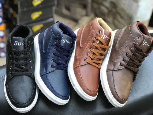 Casual Men High Ankle Canvas Shoes
