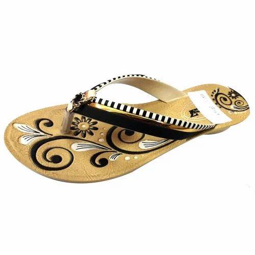 PU Ladies Fancy Slipper, Size: 6 to 7