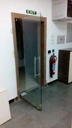 Transparent Frame Less Glass Door