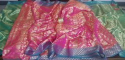 Indian Ethnic Designer Banarasi Silk Party Wear Saree, With Blouse Piece