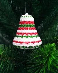 Christmas Bell Beaded Hanging Ornaments Christmas Tree Decoration Ornament Handmade