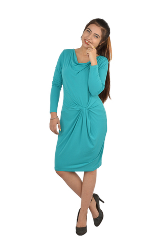Turquoise Blue Knotted Dress