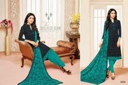 Collar Neck Mallika Salwar Suit Fabric