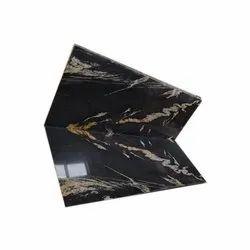 Polished Samdani Granites Titanium Black Granite Slab, Thickness: 15-20 mm