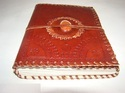 Genuine Leather Journal with Binding Stone