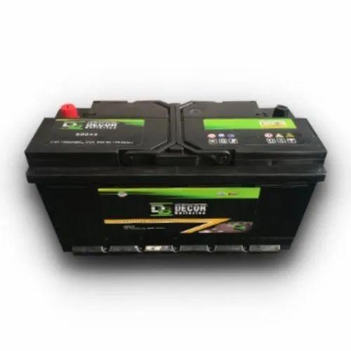Decor Black & Green DIN100 (60038) 12V 100AH Automotive Car Battery