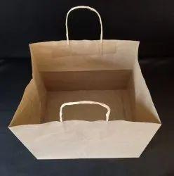 Kraft Paper Handled Printed Cake Bags, Bag Size: 11*11*9