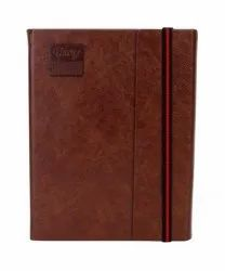 Branded Brown Premium Executive Diary With Soft PU