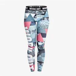 Printed Nylon Sports Leggings
