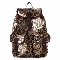 Jumbo Brown Printed Canvas Backpack