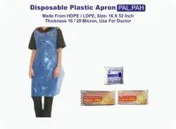 Sky Blue PE Disposable Plastic Apron, Size: 82 X 130 Centimeter