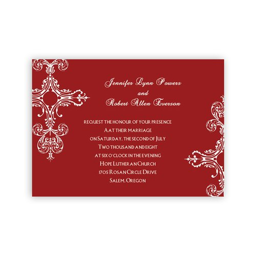 Red Wedding Invitation Card
