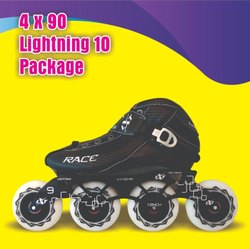 4 x 90 Lightning 10 Inline Skate Package