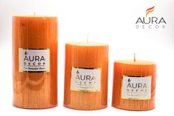 AuraDecor Pillar Candles Set