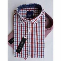 Cotton Printed Men's Strip Shirt
