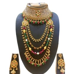 Bridal Brass Imitation Necklace Set