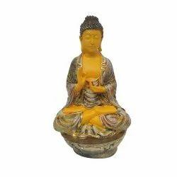 Yellow Ashirwad Gautam Buddha Statue