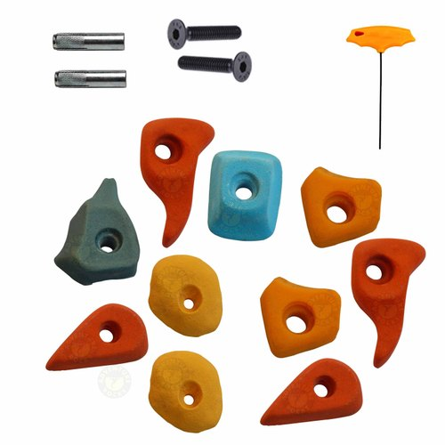 Small Climbing Holds, Bolt, Fastener, LN Key