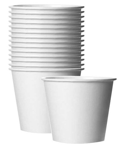 White 150 Ml Plain Disposable Paper Cup, Packet Size: 100 Pieces
