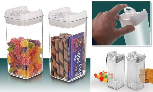 Sociosis Productions Transparent Multipurpose Container Set, Capacity: 550 ml each container capacity