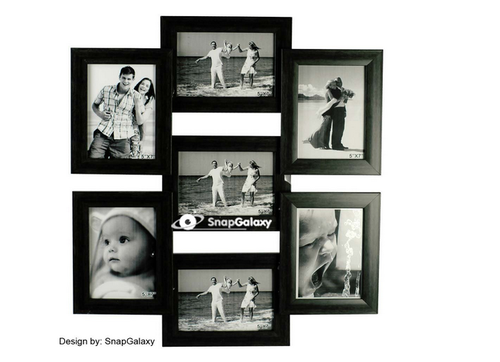 snap galaxy seven photo collage frame black at rs 1750 00 piece