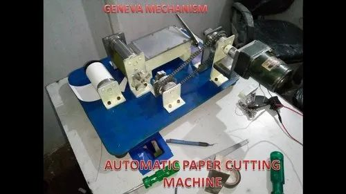 Paper Cutter using geneva