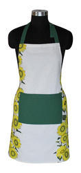 Flower Print Apron For Kitchen