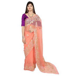 Heavy Border Casual Wear Saree