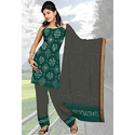 Green Casual Bandhej Suit
