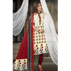 Printed Suit with Chiffon Dupatta