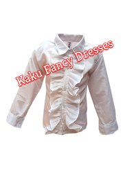 Kids White Frilly Shirt