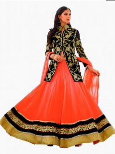 b6a9bc7f93 Orange And Black Heavy Work Wedding Designer Lehenga Choli at Rs ...