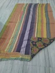 Double Coated Vintage Kantha Quilt