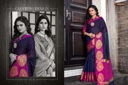 Sangam Swarnmukhi Series 1001-1008 Stylish Party Wear Silk Saree